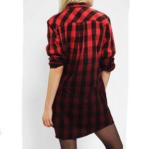BDG Fade Away Plaid Shirtdress